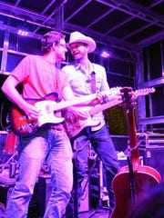 Josh Grider, right, at the 2016 Las Cruces Country Music Festival