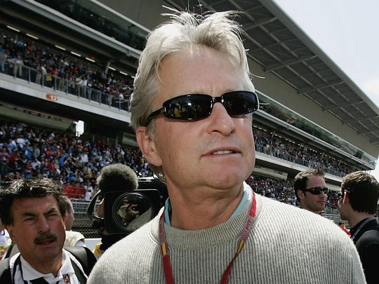 Michael Douglas, pictured at a 2004 F1 race in Spain,