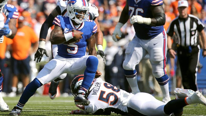 Tyrod Taylor did not kneel Sunday, but he supports his teammates who do.