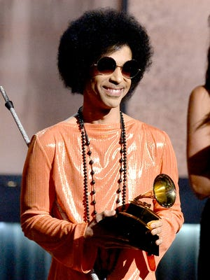 Prince onstage during The 57th Annual GRAMMY Awards at the at the STAPLES Center on February 8, 2015 in Los Angeles, California.