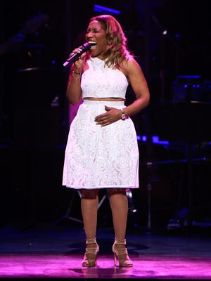 Stephanie Mills performs onstage at the 2nd Annual Voices For The Voiceless:  Stars For Foster Kids Benefit at the Al Hirschfeld Theatre on September 12, 2016 in New York City.