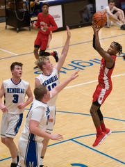 Bosse's Mekhi Lairy (2) shoots for two over the Memorial