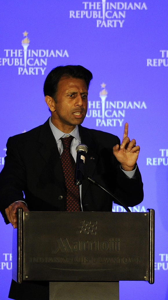 Louisiana Gov. Bobby Jindal spoke at an Indiana Republican Party fundraiser in 2013.