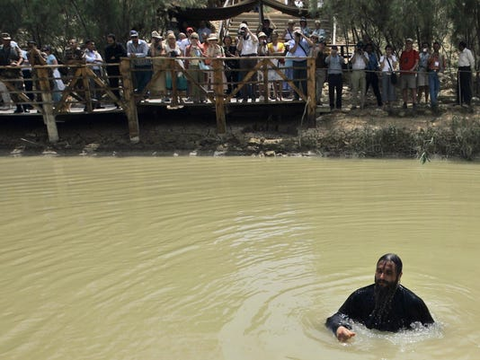 Mideast Holy Land Jesus Baptism (2)