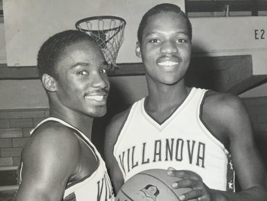 Long Branch native Alex Bradley (right) shown as one of the Villanova co-captains along with Rory Sparrow.