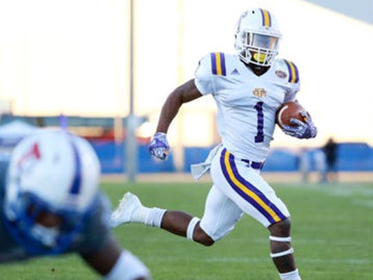Tennessee Tech's Dontez Byrd, the leading receiver
