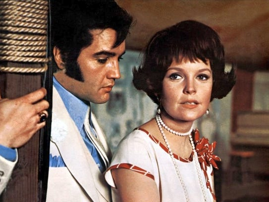 Marlyn Mason and Elvis Presley in a scene from The
