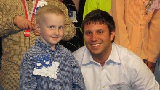 6-year-old Colin inspires Boston Marathoner Jason Kroot
