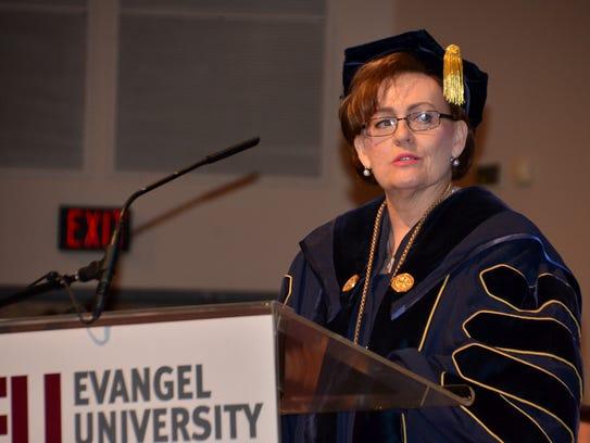 Evangel University president Carol Taylor welcomes