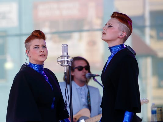 Jess Wolfe, Holly Laessig, Lucius, 2016 South by Southwest Music Festival