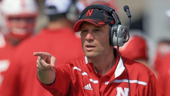 Mike Riley Nebraska head coach Mike Riley points during the annual Red-White spring game in Lincoln, Neb., Saturday, April 11, 2015. (AP Photo/Nati Harnik)