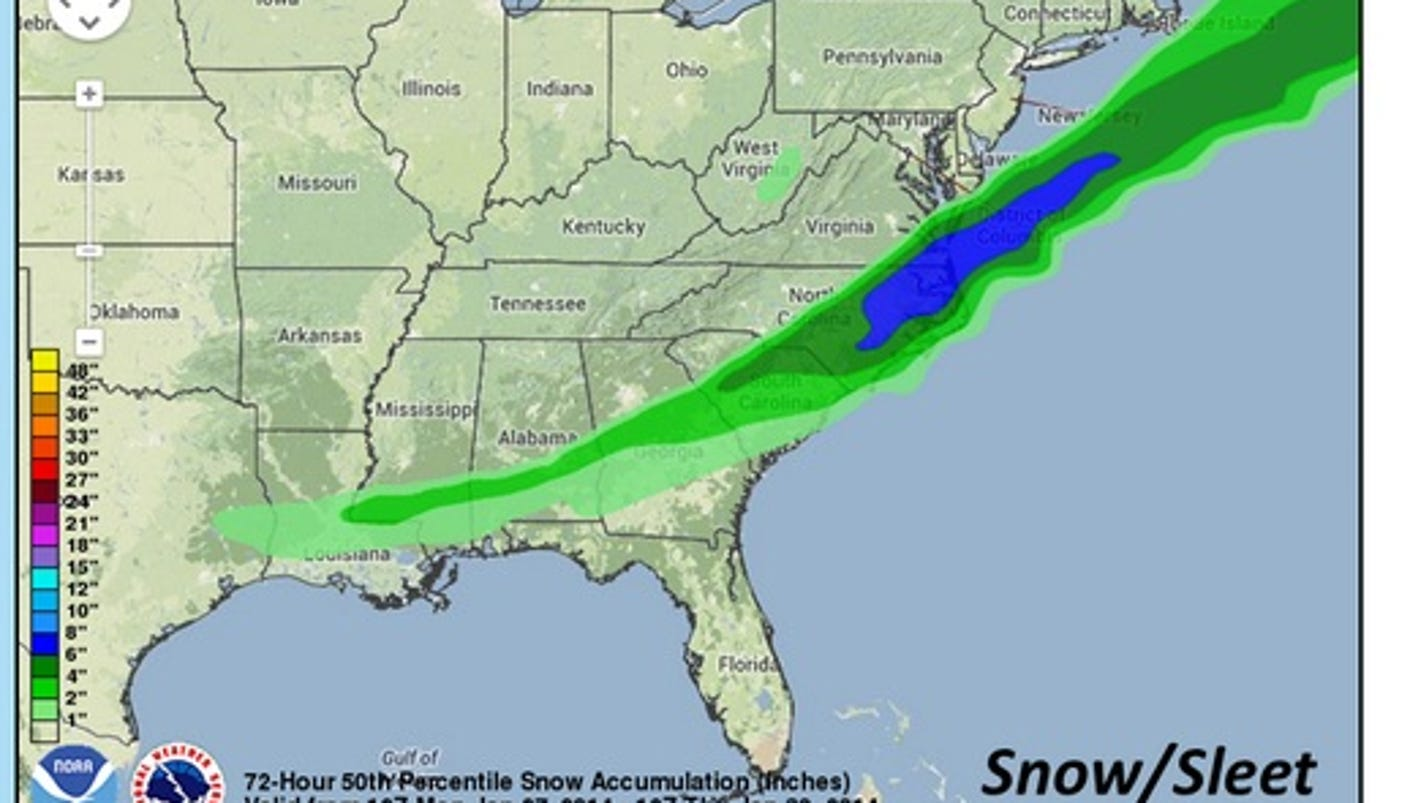 Image result for the great southeastern snowfall 1973