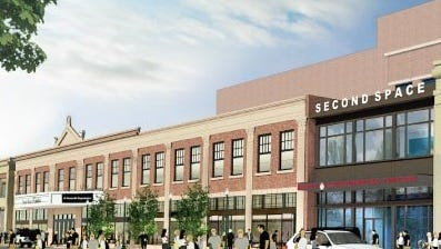 A rendering of the expansion of Count Basie Theatre.