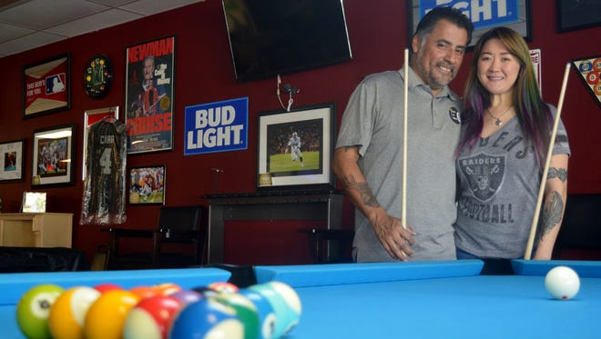 Owners of Visalia City Billiards, Stefan Canales and Liz Eknoian took their favorite hobby and made it to a career.