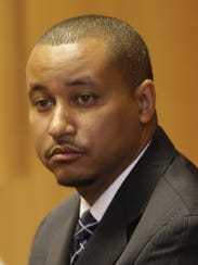 Senator Virgil Smith sits in the 36th District Courtroom