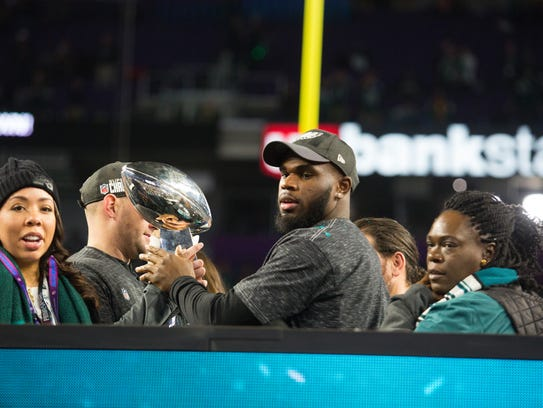 Eagles running back and Wilmington native Wendell Smallwood
