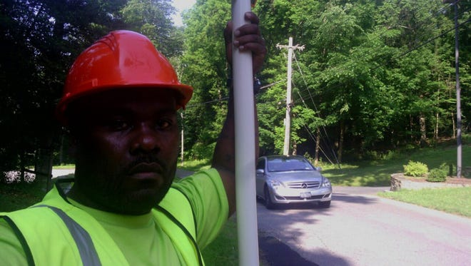 Lorenzo Johnson, originally from Yonkers, was released from prison, then re-incarcerated when the U.S. Supreme Court overturned the ruling that led to his release. He's shown here in 2012, while working a construction job in Westchester County, during  his brief release.