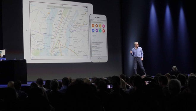 Apple shows its update to its Apple Maps app at the WWDC.