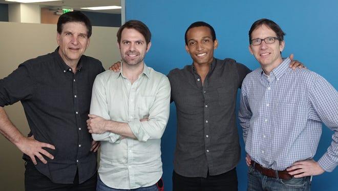 The Talking Tech Roundtable panel: host Jefferson Graham, Aaron Rasmussen, Matt Joseph and USA TODAY's Matt Krantz.