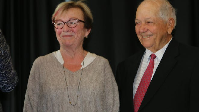 The Millers, pictured here at UVM's Dudley H. Davis Center, donated $3 million Friday to create a new professorship. The donation is the latest in a string of high profile donations.