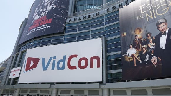 The VidCon convention at the Anaheim Convention Center