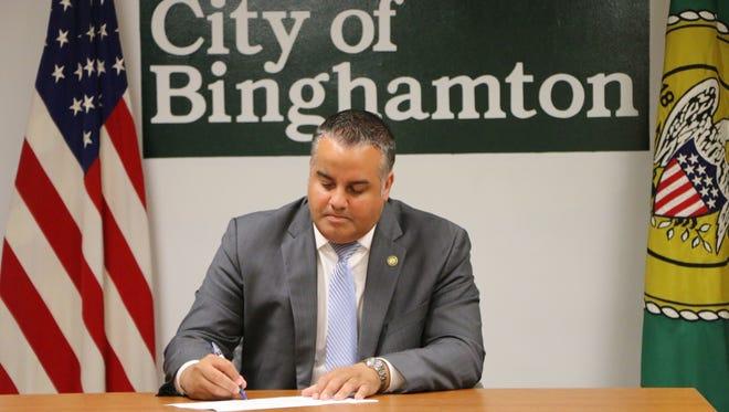 Binghamton Mayor Richard David