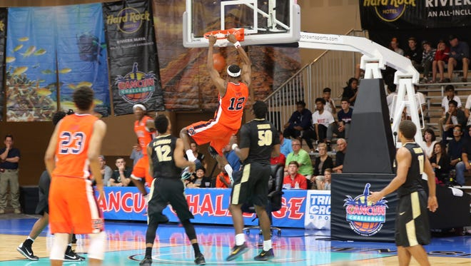 Auburn and Purdue were among the Division I men's basketball teams that played in a previous Cancun Challenge in Cancun, Mexico. The event is moving to Brevard County this year and will be called the Space Coast Challenge.