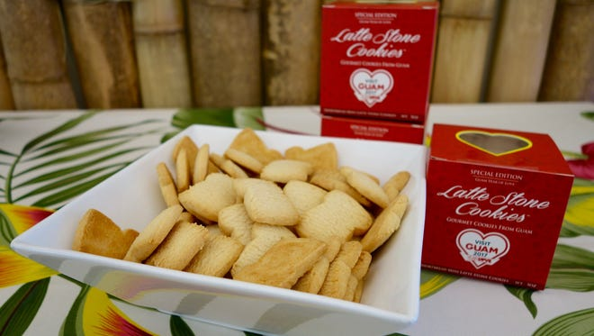 The Visit Guam 2017: Year of Love edition of Latte Stone Cookies hit store shelves May 26, 2017. ABC Stores are selling each box for $4.99, and Two Lovers Point is selling each box for $5.