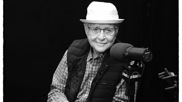TV legend Norman Lear, photographed at Podcastone studios