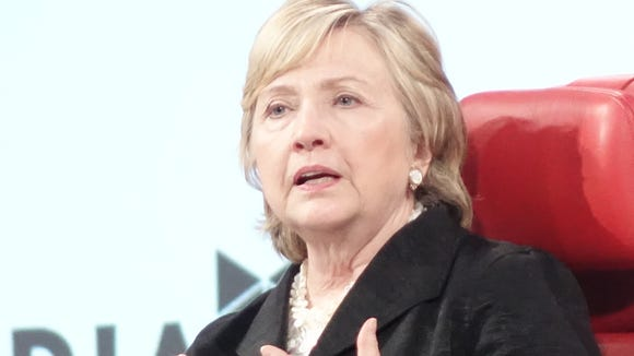 Hillary Clinton speaks at the Recode conference.