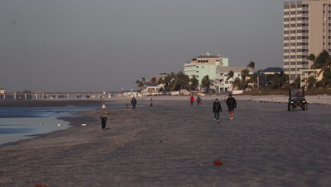 The temperatures dipped into the low 30's in Fort Myers Beach.