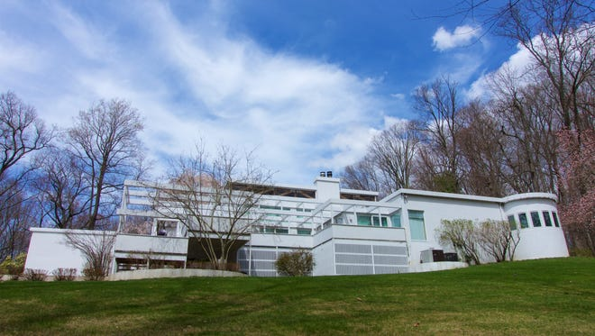 This contemporary home was designed by John Rubenstein, the home owner, and it will be on the tour of Notable Homes to benefit the Bernardsville Library on Saturday, May 19.