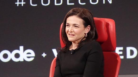 Facebook COO Sheryl Sandberg speaks at the Code conference