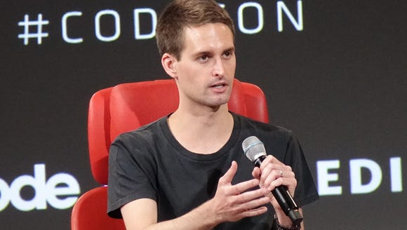 Snap, Inc. CEO Evan Spiegel speaks at the Code conference