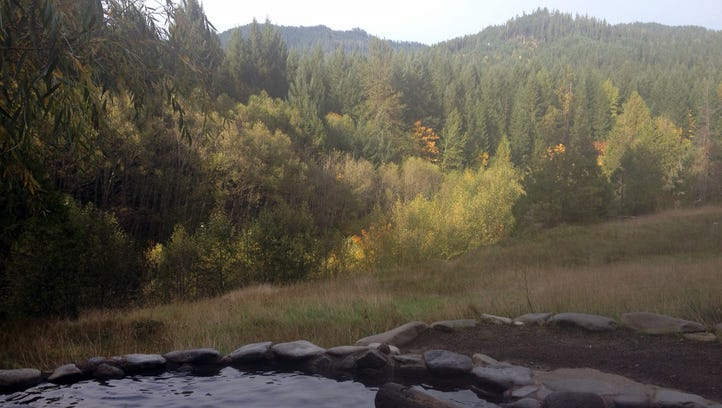 A scenic view from the hot springs at Breitenbush Hot