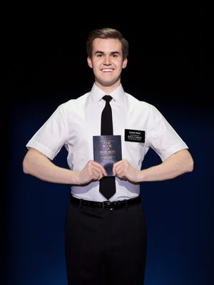 """Kevin Clay portrays Elder Price in """"The Book of Mormon"""" in Washington, D.C., on Nov. 17, 2017. Clay will perform when the musical-comedy reaches Artis—Naples in North Naples next week."""