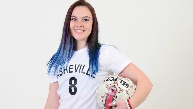 Asheville High senior Kenzie McDowell.