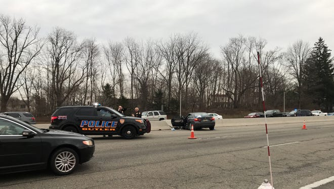 A Kinnelon man died after his car struck the center divider on Route 23 in Butler on Tuesday afternoon.