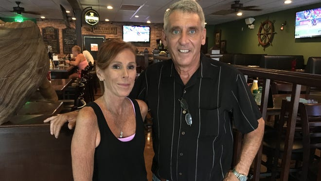 "Megan and Steve Grish own Dowd's Pub & Grill in south Fort Myers. ""Dowd"" is Megan's maiden name."