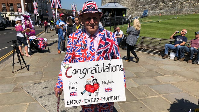 Royal super-fan Terry Hutt in Windsor, England, on May 15, 2018.