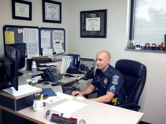 Hellam Twp. Police Staff Sgt. Drew Heistand was named York County's officer of the year for 2016.
