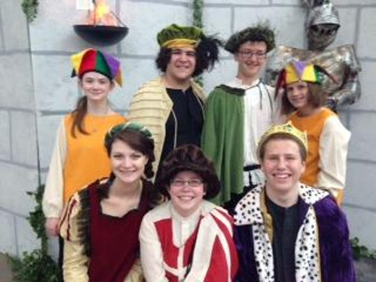 """Local teens performed a condensed version of """"Hamlet"""" before the 2015 Richmond Shakespeare Festival performances."""