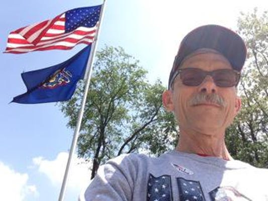 """Joe Stafford of York Township shared this """"I voted"""" selfie."""