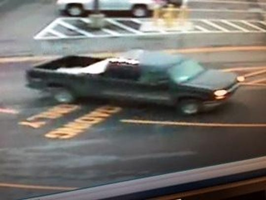 This vehicle was driven by two men wanted for shoplifting at Lowe's in Westland.