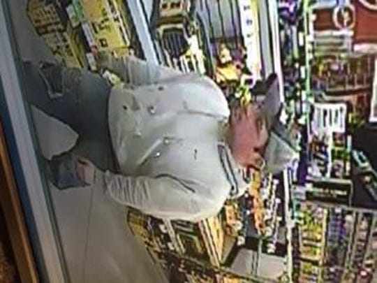 One of two suspects wanted for breaking into a vehicle and stealing tools at the Westland Lowe's store.