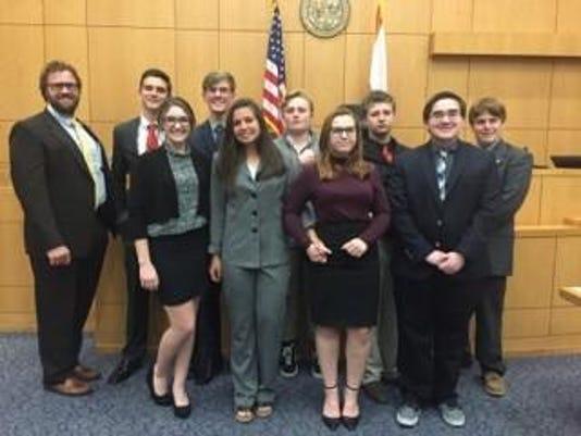SB Catholic High School Mock Trial Team