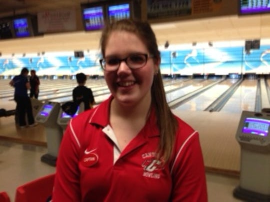 Canton sophomore Meghan Macunovich won the girls bowling