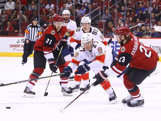 NHL: Florida Panthers at Arizona Coyotes