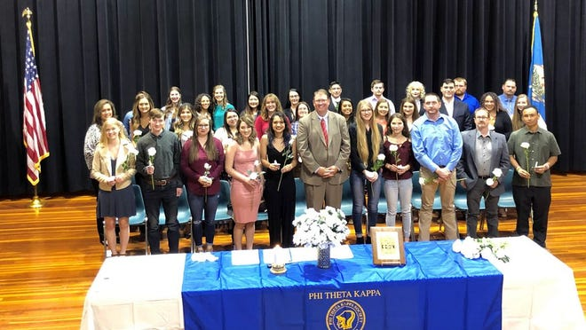 A group of 36 Seminole State College students were inducted into the Phi Theta Kappa honor society at the Jeff Johnston Fine Arts Center on March 3.