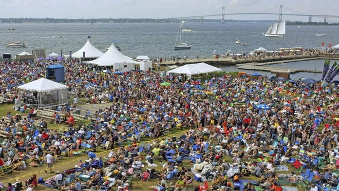 The coronavirus pandemic has already been tough on tourism in Newport, with the cancellation of events such as the Newport Jazz Festival, shown here in 2013. Travel restrictions by neighboring states have added another obstacle.